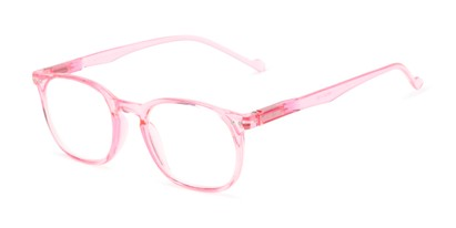 Angle of The Darling in Pink, Women's Retro Square Reading Glasses