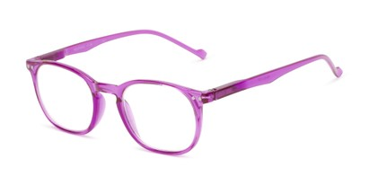 Angle of The Darling in Purple, Women's Retro Square Reading Glasses
