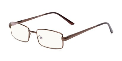 Angle of The Dash Computer Reader in Bronze, Women's and Men's Rectangle Reading Glasses