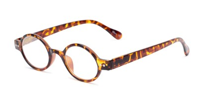Angle of The Davey in Brown Tortoise, Women's and Men's Round Reading Glasses