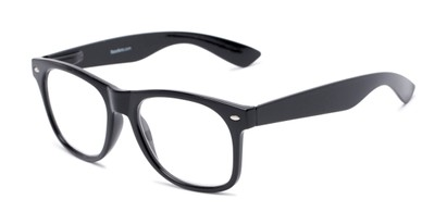 Angle of The Dean in Black, Women's and Men's Retro Square Reading Glasses