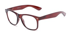 Angle of The Dean in Brown, Women's and Men's Retro Square Reading Glasses
