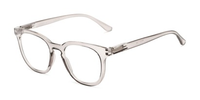 Angle of The Decker in Crystal Grey, Women's Retro Square Reading Glasses