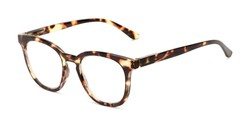 Angle of The Decker in Tortoise, Women's Retro Square Reading Glasses