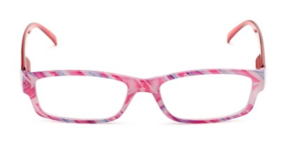Front of The Delaney in Pink Multi/Red