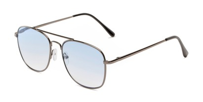 Angle of The Delphi Tinted Reader in Grey/Blue Gradient, Women's and Men's Aviator Reading Glasses