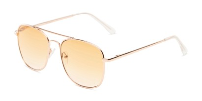 Angle of The Delphi Tinted Reader in Gold/Orange Gradient, Women's and Men's Aviator Reading Glasses