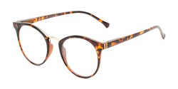 Angle of The Dewey in Tortoise/Gold, Women's and Men's Round Reading Glasses