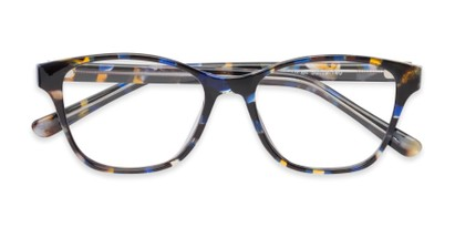 Folded of The Esme Customizable Reader in Blue Tortoise