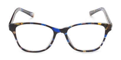 Front of The Esme Customizable Reader in Blue Tortoise