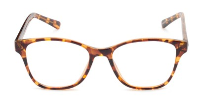Front of The Esme Customizable Reader in Brown Tortoise