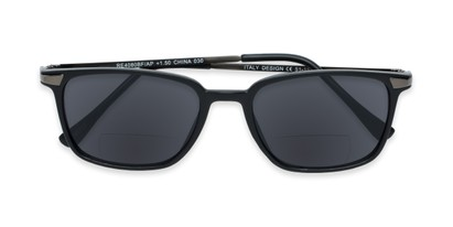 Folded of The Dodger Bifocal Reading Sunglasses in Matte Black with Smoke