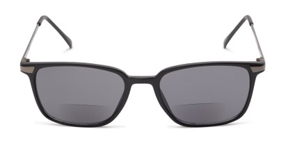 Front of The Dodger Bifocal Reading Sunglasses in Matte Black with Smoke