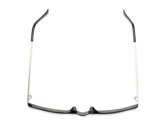 Overhead of The Dodger Bifocal Reading Sunglasses in Glossy Black with Smoke