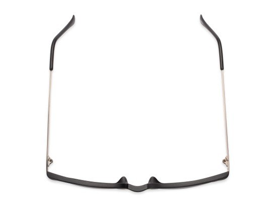 Overhead of The Dodger Bifocal Reading Sunglasses in Matte Black with Smoke