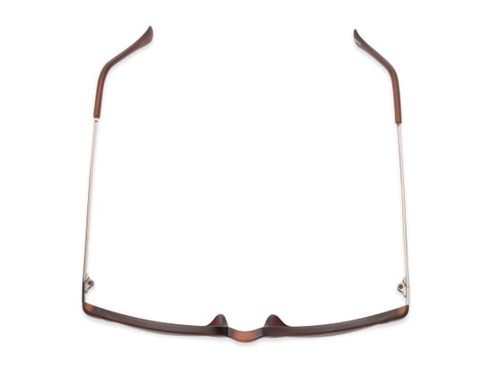 Overhead of The Dodger Bifocal Reading Sunglasses in Matte Brown with Amber