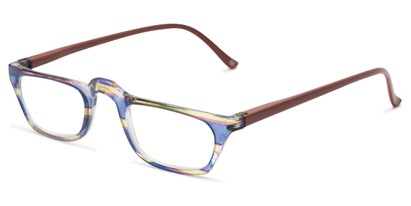 Optical quality striped half reader