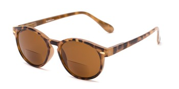 8365ac9c68d Angle of The Drama Bifocal Reading Sunglasses in Light Tortoise with Amber