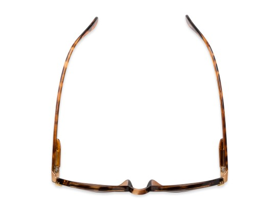Overhead of The Drama Bifocal Reading Sunglasses in Dark Tortoise with Amber