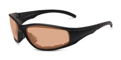 Angle of The Driving Bifocal EVA Safety Goggles in Black Frame with Amber Lenses, Women's and Men's Sport & Wrap-Around Reading Sunglasses