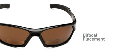 Detail of The Driving Bifocal Safety Goggles in Black with Amber Driving Lenses