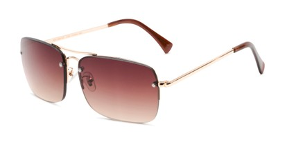 Angle of The Duke Reading Sunglasses in Gold with Amber, Men's Aviator Reading Sunglasses