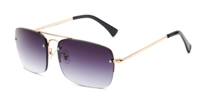 Angle of The Duke Reading Sunglasses in Gold with Smoke, Men's Aviator Reading Sunglasses