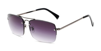Angle of The Duke Reading Sunglasses in Gunmetal with Smoke, Men's Aviator Reading Sunglasses