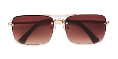 Folded of The Duke Reading Sunglasses in Gold with Amber