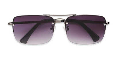 Folded of The Duke Reading Sunglasses in Gunmetal with Smoke