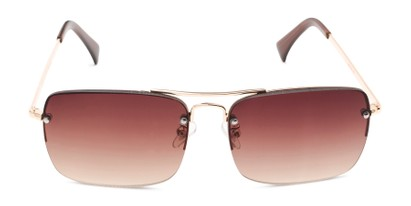 Front of The Duke Reading Sunglasses in Gold with Amber
