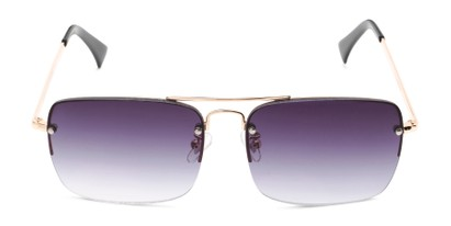 Front of The Duke Reading Sunglasses in Gold with Smoke