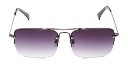 Front of The Duke Reading Sunglasses in Gunmetal with Smoke