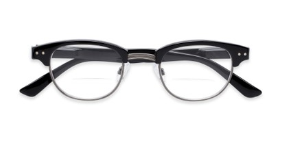 Folded of The Dunlap Bifocal in Black/Silver