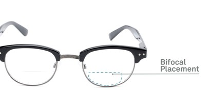 Detail of The Dunlap Bifocal in Black/Silver