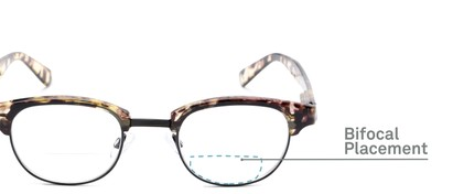 Detail of The Dunlap Bifocal in Tan Tortoise/Black
