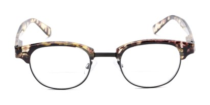 Front of The Dunlap Bifocal in Tan Tortoise/Black
