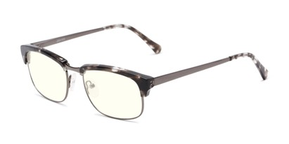 Angle of The Dunn Blue Light Blocking Reader in Black Tortoise, Women's and Men's Browline Reading Glasses