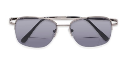 Folded of The Durham Bifocal Reading Sunglasses in Grey with Smoke