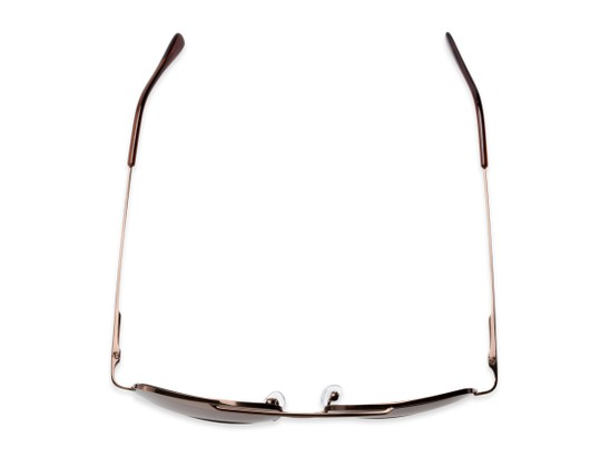 Overhead of The Durham Bifocal Reading Sunglasses in Bronze with Amber