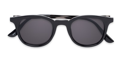 Folded of The Easterday Reading Sunglasses in Black/Grey with Smoke