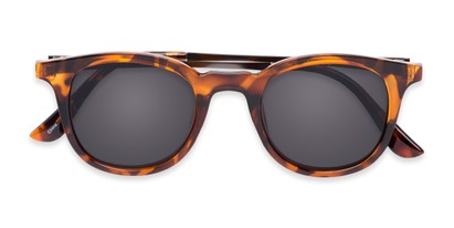 Folded of The Easterday Reading Sunglasses in Tortoise/Grey with Smoke