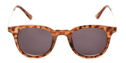 Front of The Easterday Reading Sunglasses in Light Tortoise/Gold with Smoke