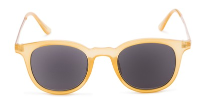 Front of The Easterday Reading Sunglasses in Yellow/Gold with Smoke
