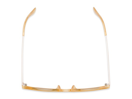 Overhead of The Easterday Reading Sunglasses in Yellow/Gold with Smoke