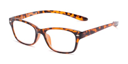 Angle of The Easton Hanging Reader in Tortoise, Women's and Men's Retro Square Reading Glasses