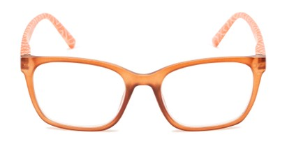 Front of The Effie in Brown/Orange Geometric