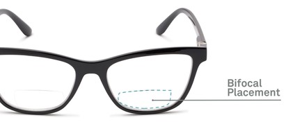 Detail of The Eiffel Bifocal in Glossy Black