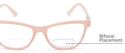 Detail of The Eiffel Bifocal in Glossy Pink