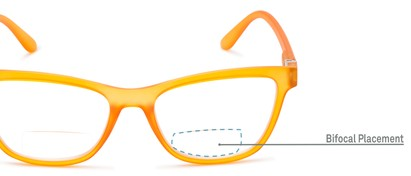 Detail of The Eiffel Bifocal in Frosted Orange